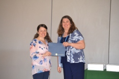 Louise Megahan, Groves/Transition Coordintor (left) pictures with DAACE President, Kristi King